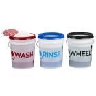 Gtechniq Bucket Stickers - Wash, Rinse and Wheel